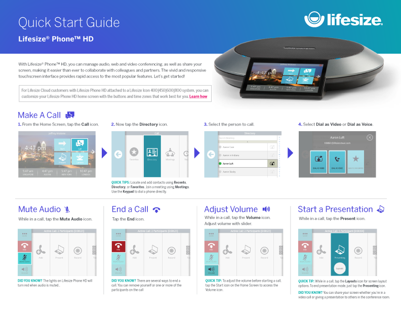 Lifesize Phone HD Quick Start Guide