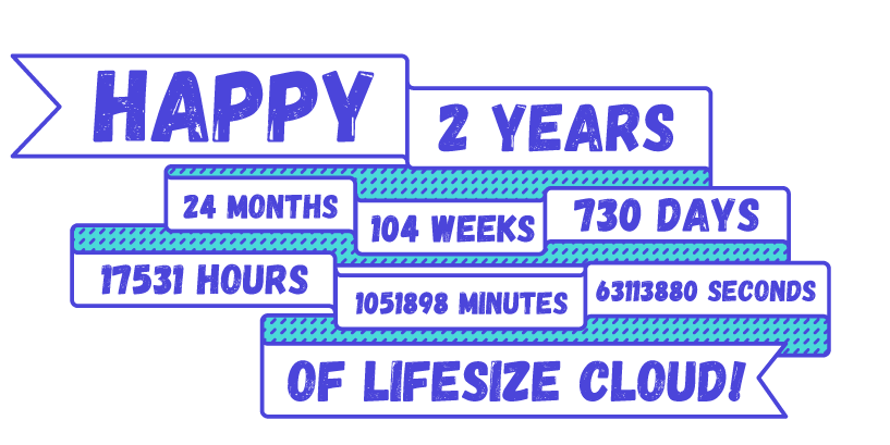 Happy 2 Years of Lifesize Cloud